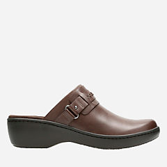 Delana Amber Dark Brown Leather womens-wide-width