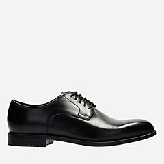 Ellis Leon Black Leather mens-oxfords-lace-ups