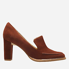 Ellis Mable Rust Suede womens-heels
