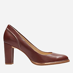Ellis Edith Rust Leather womens-heels