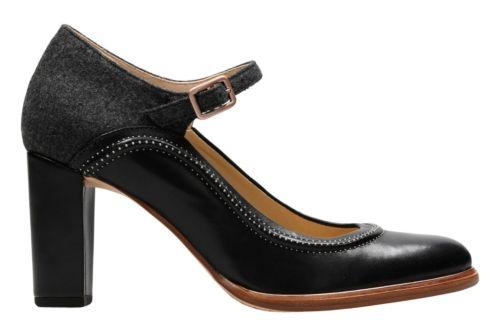 Ellis Mae Black Combi Women S Heels Clarks 174 Shoes