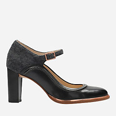 Ellis Mae Black Combi womens-heels
