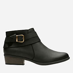 Addiy Cora Black Leather womens-wide-width