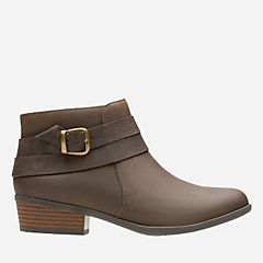 Addiy Cora Olive Leather womens-wide-width