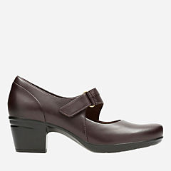 Emslie Lulin Brown Leather womens-ortholite