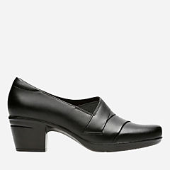 Emslie Warbler Black Leather womens-ortholite