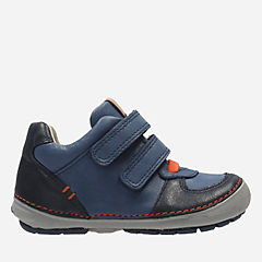 Softly Pow Fst Navy Leather boys-boots
