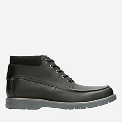 Vossen Mid Black Leather mens-ortholite
