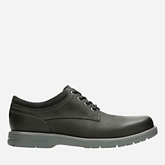 Vossen Plain Black Leather mens-oxfords-lace-ups