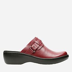 Delana Amber Red Leather womens-wide-width