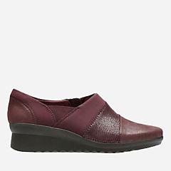 Caddell Denali Burgundy Synthetic/Snake Print womens-narrow-width