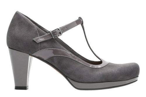 Chorus Pitch Dark Grey Leather Combi womens-heels