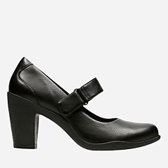 Adya Clara Black Leather womens-ortholite