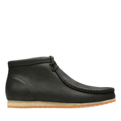 Wallabee Step Boot Black Leather mens-wallabees