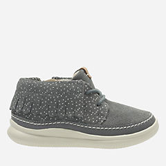 Cloud Aklark First Grey Suede girls-boots