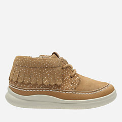 Cloud Aklark First Tan Suede girls-boots