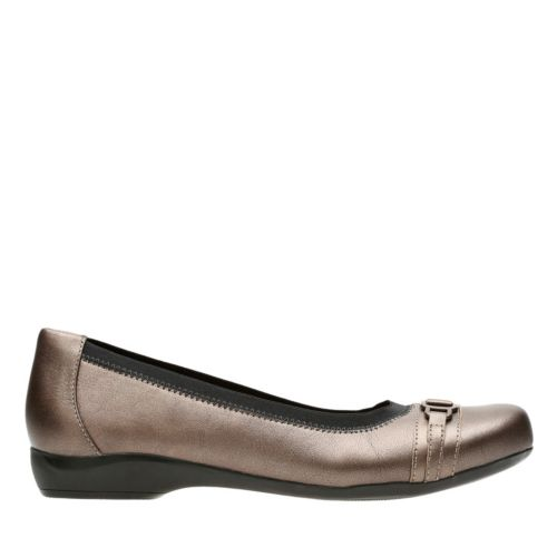 Kinzie Light Pewter Leather womens-wide-width