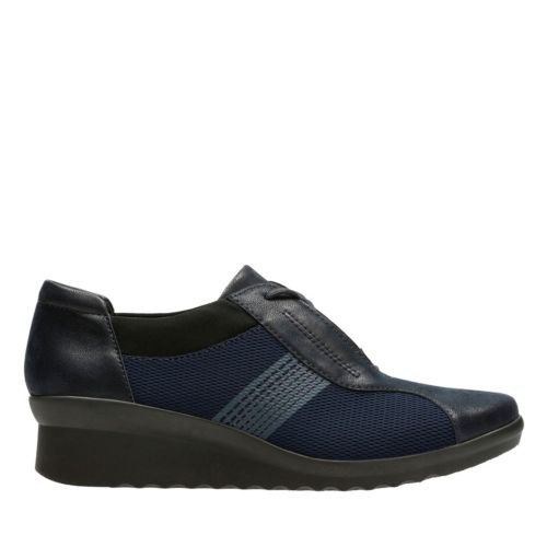 Caddell Fly Navy Mesh sale-womens-wedges