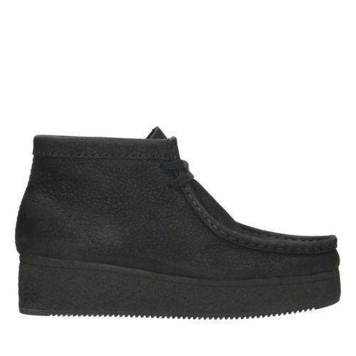Wallabee Wedge Black Nubuck Originals Womens Boots