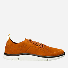 Triken Lace Rust Suede mens-ortholite