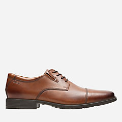Tilden Cap Dark Tan Leather mens-wide-width