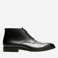 Mckewen Rise Black Leather mens-wide-width