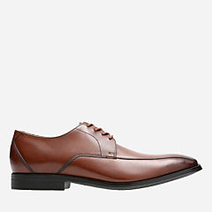Gilman Mode Dark Tan Lea mens-oxfords-lace-ups