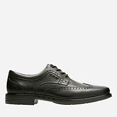 Unbrylan Wing Black Leather mens-unstructured