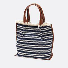 Vanora Sand Navy/White womens-accessories-totes