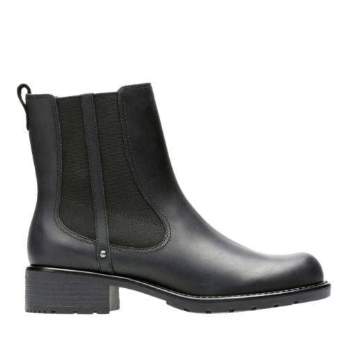Orinoco Club Black Leather womens-ankle-boots