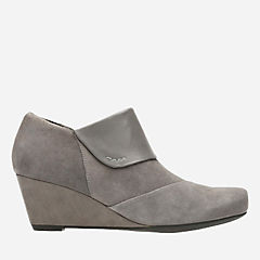 Flores Dahlia Grey Suede / Leather Combi womens-wedges