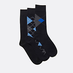 Mens 3-Pack Argyle Combi Black/Multi accessories-view-all