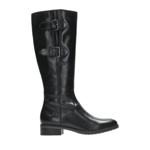 Tamro Spice Black Leather womens-knee-boots