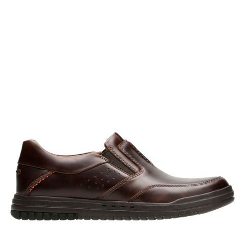 Unrhombus Twin Brown Leather mens-loafer-slip-on