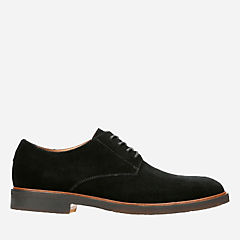 Clarkdale Moon Black Suede mens-oxfords-lace-ups