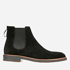 Clarkdale Gobi Black Suede mens-casual-boots