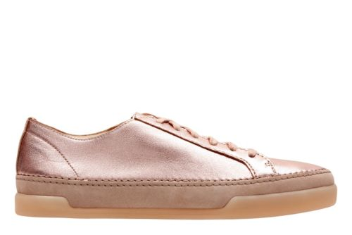 Hidi Holly Rose Gold Leather womens-sneakers