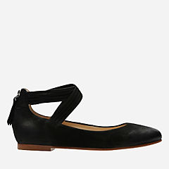 Grace Anna Black Nubuck womens-dress-shoes