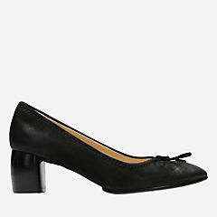 Grace Maya Black Nubuck womens-heels