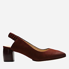 Grace Allegra Rust Nubuck womens-kitten-heels