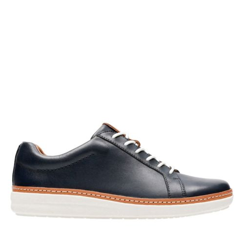 Amberlee Rosa Navy Leather womens-unstructured