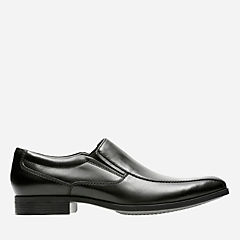 Conwell Step Black Leather mens-loafer-slip-on