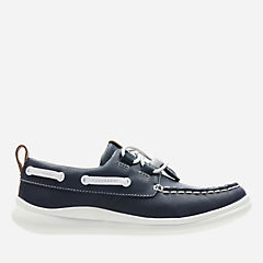 Cloud Swing Navy Leather boys-shoes
