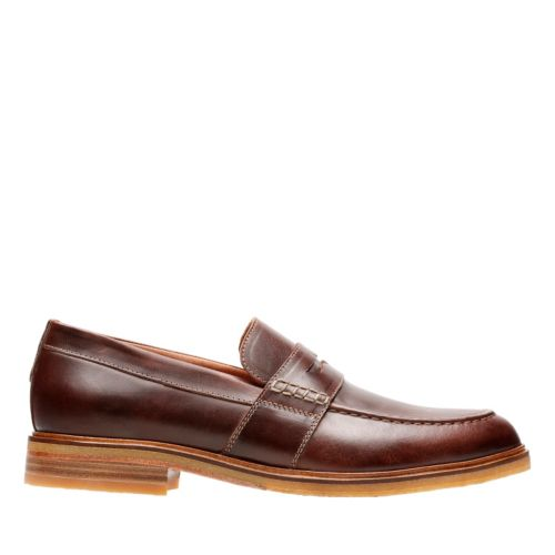 Clarkdale Flow Mahogany Leather mens-loafer-slip-on