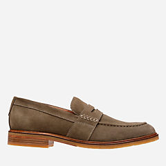 Clarkdale Flow Olive Suede mens-loafer-slip-on