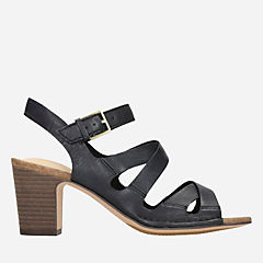 Spiced Ava Black Leather womens-sandals-heels