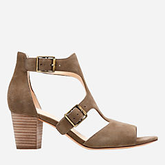Deloria Kay Olive Suede womens-heels