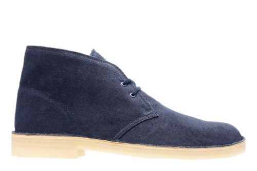 Desert Boot Navy Fabric mens-boots