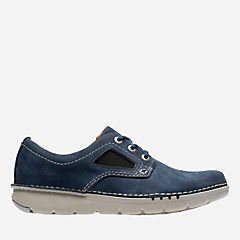 Unnature Plain Navy Nubuck mens-unstructured