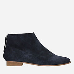 Pure Craft Navy Suede womens-ankle-boots